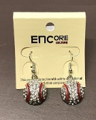 CRYSTAL BASEBALL EARRINGS #EC-0023F-3R