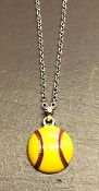 SMALL ENAMEL SOFTBALL NECKLACE #N7261RH