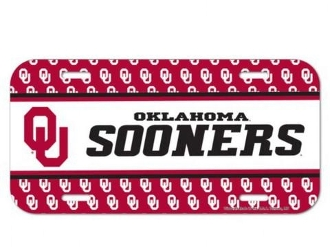 OKLAHOMA SOONERS LICENSE PLATE #92134OU