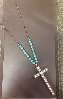 "30"" CROSS PENDANT NECKLACE #AN1304CBTQ"