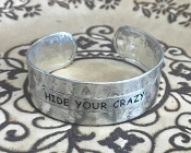 HIDE YOUR CRAZY HAMMERED CUFF BANGLE #AB8635-S