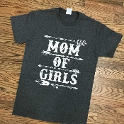 MOM OF GIRLS T-SHIRT 6 PACK #MOMOFGIRLS-CHARCOAL