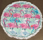 FLAMINGO ROUND BEACH TOWEL #RT-FLAMINGO