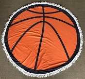 BASKETBALL ROUND BEACH TOWEL #RT-BASKETBALL
