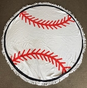 BASEBALL ROUND BEACH TOWEL #RT-BASEBALL