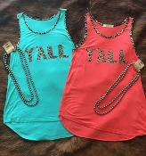 Y'ALL LEOPARD TRIM SUPER SOFT TANKS #Y'ALLLEOPARD