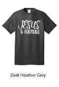 JESUS & FOOTBALL TSHIRT #1015DARKHEATHERGREY $6 EACH