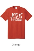 JESUS & FOOTBALL TSHIRT #1015ORANGE $6 EACH