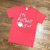 IT'S FOOTBALL Y' ALL TSHIRT #FBYALLRED $6 EACH