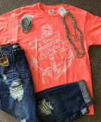 HE REMAINS FAITHFUL CORAL TSHIRT 8PK $48.00