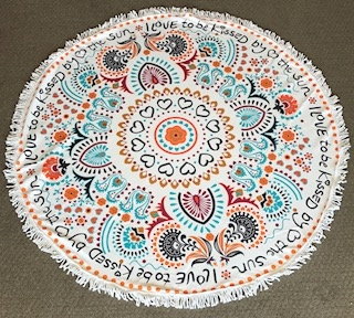 SUNKISSED ROUND BEACH TOWEL #RT-SUNKISSED