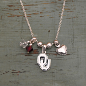 OKLAHOMA SOONERS HAUTE WIRE NECKLACE #OKC22662
