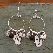 OKLAHOMA SOONERS HAUTE WIRE EARRINGS #OKC22697