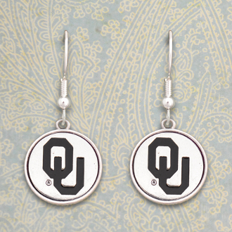 OKLAHOMA SOONERS SILVER LININGS EARRINGS #OKC56987