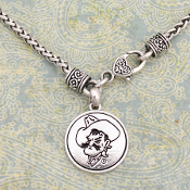 OKLAHOMA STATE COWBOYS SILVER LININGS NECKLACE #OKS57039