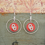 OKLAHOMA SOONERS CAMPUS CHIC EARRINGS #OKC56182