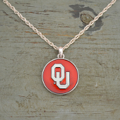 OKLAHOMA SOONERS CAMPUS CHIC NECKLACE #OKC56138