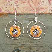 OKLAHOMA STATE PISTOL PETE CAMPUS CHIC EARRINGS #OKS57441