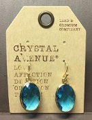 OVAL FACETED DESIGNER EARRINGS #24994BLZ-G