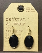 OVAL FACETED DESIGNER EARRINGS #24994JT-G
