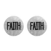 FAITH POST EARRING #24619-S