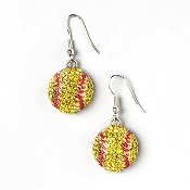 CRYSTAL SOFTBALL EARRINGS #EC-0025F-3Y