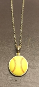 CLAY SOFTBALL NECKLACE #N6409