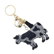 COW PUFFY CRYSTAL KEYCHAIN #31314JT-G