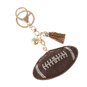 FOOTBALL PUFFY CRYSTAL KEYCHAIN #31191STO-G