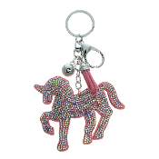 UNICORN PUFFY CRYSTAL KEYCHAIN #31195LRO-S