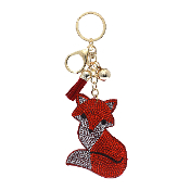 FOX PUFFY CRYSTAL KEYCHAIN #31257LSI-G