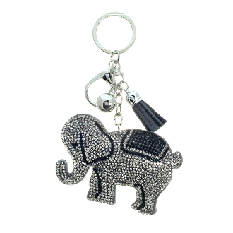 ELEPHANT PUFFY CRYSTAL KEYCHAIN #31202BD-S