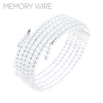CRYSTAL MEMORY WIRE BRACELET #83379CR