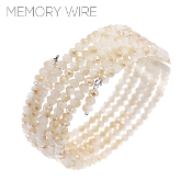 CRYSTAL MEMORY WIRE BRACELET #83379BE