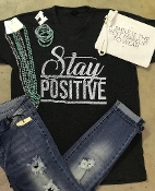 STAY POSITIVE HEATHER GRAPHITE VNECK TSHIRT 8PK $60.00