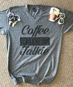 COFFEE BEFORE TALKIE VNECK TSHIRT 8PK $60.00
