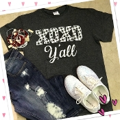 XOXO Y'ALL GREY TSHIRT 8PK $48.00