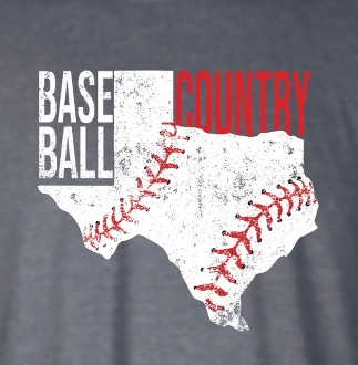 BASEBALL COUNTRY TX VNECK TSHIRT 8PK $60.00