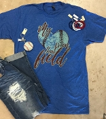 MY HEART IS ON THAT FIELD BASEBALL H-ROY VNECK TSHIRT 8PK $60.00