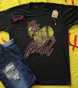 MY HEART IS ON THAT FIELD SOFTBALL H-BLK VNECK TSHIRT 8PK $60.00