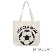 CANVAS SOCCER MOM TOTE BAG #HB00033BE