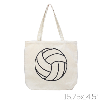 CANVAS VOLLEYBALL TOTE BAG  HB00034BE 869b9c0d780ad