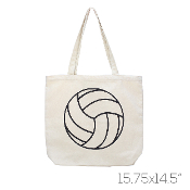 CANVAS VOLLEYBALL TOTE BAG #HB00034BE