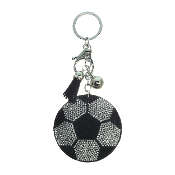 SOCCER PUFFY CRYSTAL KEYCHAIN #31251JT-S