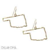 OKLAHOMA CUT OUT EARRINGS #25078-G