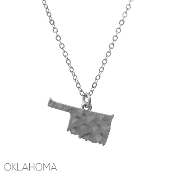 OKLAHOMA HAMMERED PENDANT NECKLACE #16331-S