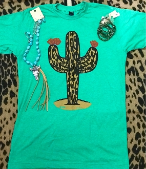 LEOPARD STAND TALL CACTUS H-KELLY CREW NECK TSHIRT 8PK $60.00