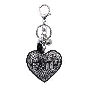 FAITH HEART PUFFY CRYSTAL KEYCHAIN #31268VJT-S