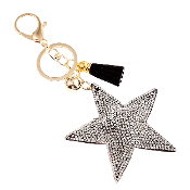 CLEAR STAR PUFFY CRYSTAL KEYCHAIN #31067CR-G
