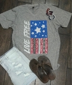 LIVE FREE SUPER SOFT VNECK TSHIRT 8PK $60  #LF-HEATHER GREY